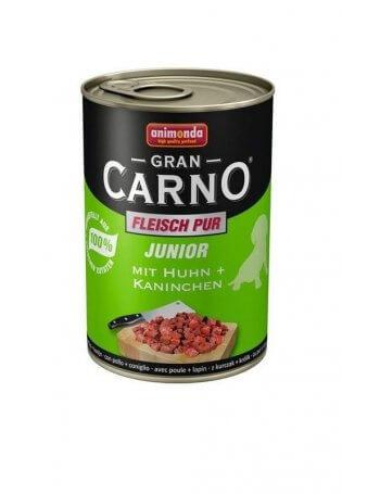 GranCarno Junior Vită și Inimi de Curcan 400g
